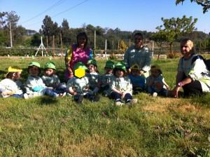Visita da Sala dos Mochinhos (2 anos) à Quinta do Tio Jorge em S. Paio de Gramaços