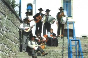 O grupo de tocadores